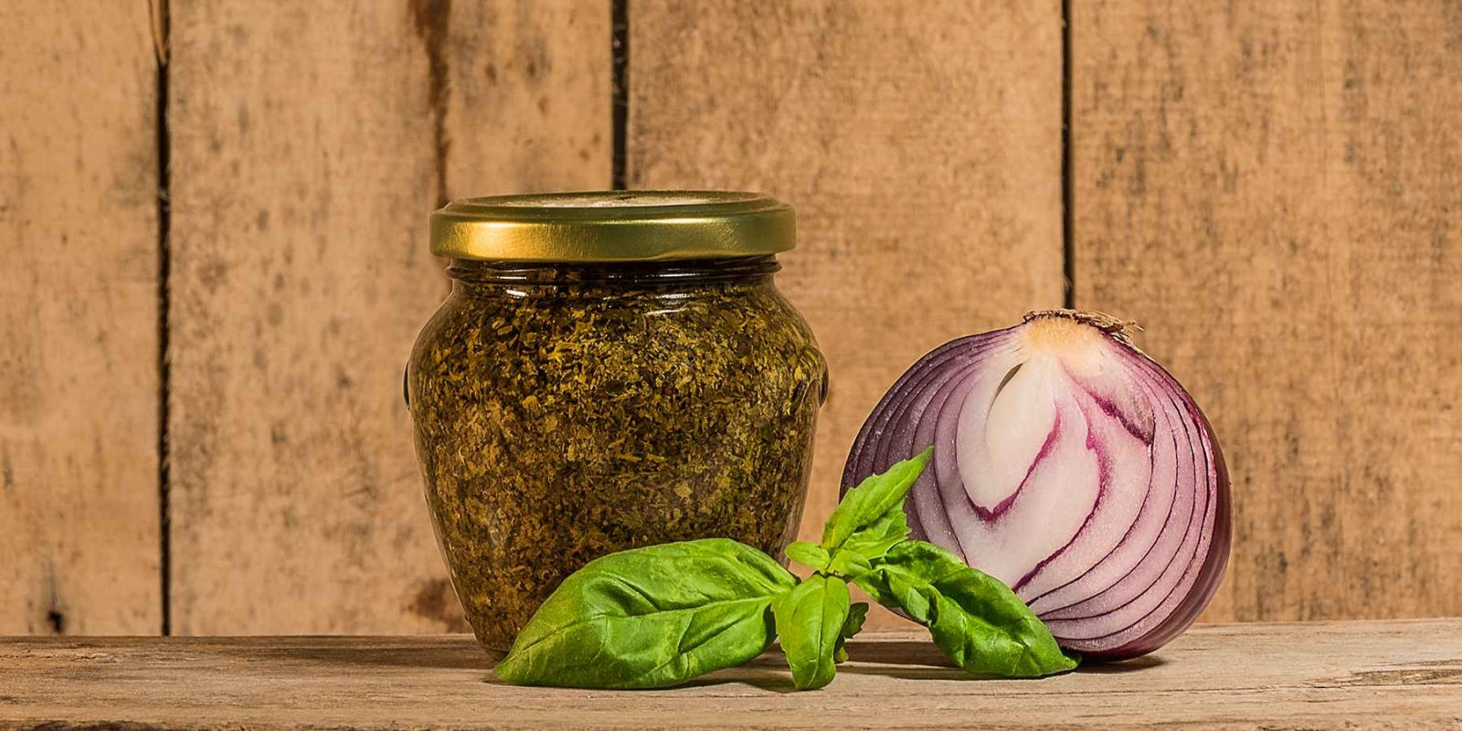 Pesto Basilico e Cipolle